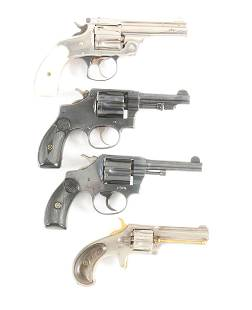 CA LOT OF FOUR REVOLVERS TWO SMITH WESSON ONE
