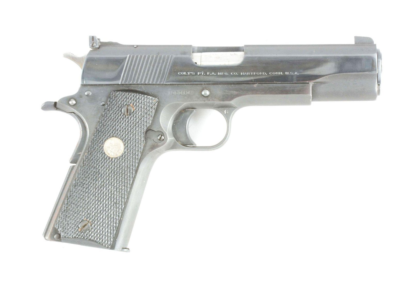 (C) COLT GOVERNMENT MODEL SEMI AUTOMATIC PISTOL.