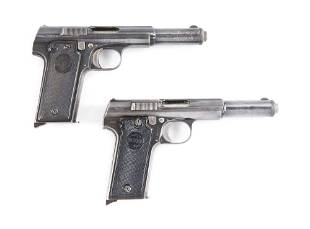 C LOT OF TWO TWO ASTRA 400 SEMI AUTOMATIC PISTOLS