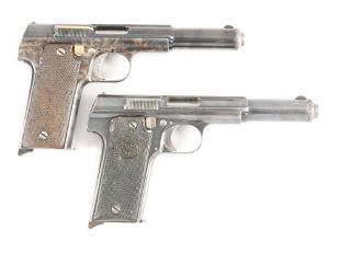 C LOT OF TWO TWO ASTRA 1921 SEMI AUTOMATIC PISTOLS