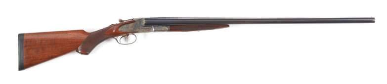 (C) L.C. SMITH TRAP GRADE SIDE BY SIDE SHOTGUN.