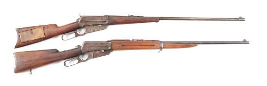 C LOT OF TWO WINCHESTER 1895 LEVER ACTION RIFLES