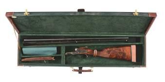 (M) L.C. SMITH CROWN GRADE SIDE BY SIDE SHOTGUN.