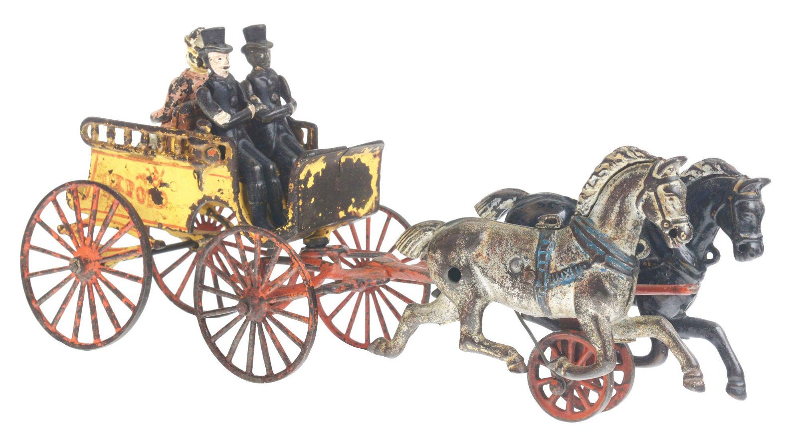 KENTON CAST IRON OXFORD BACK TO BACK HORSE DRAWN TRAP.