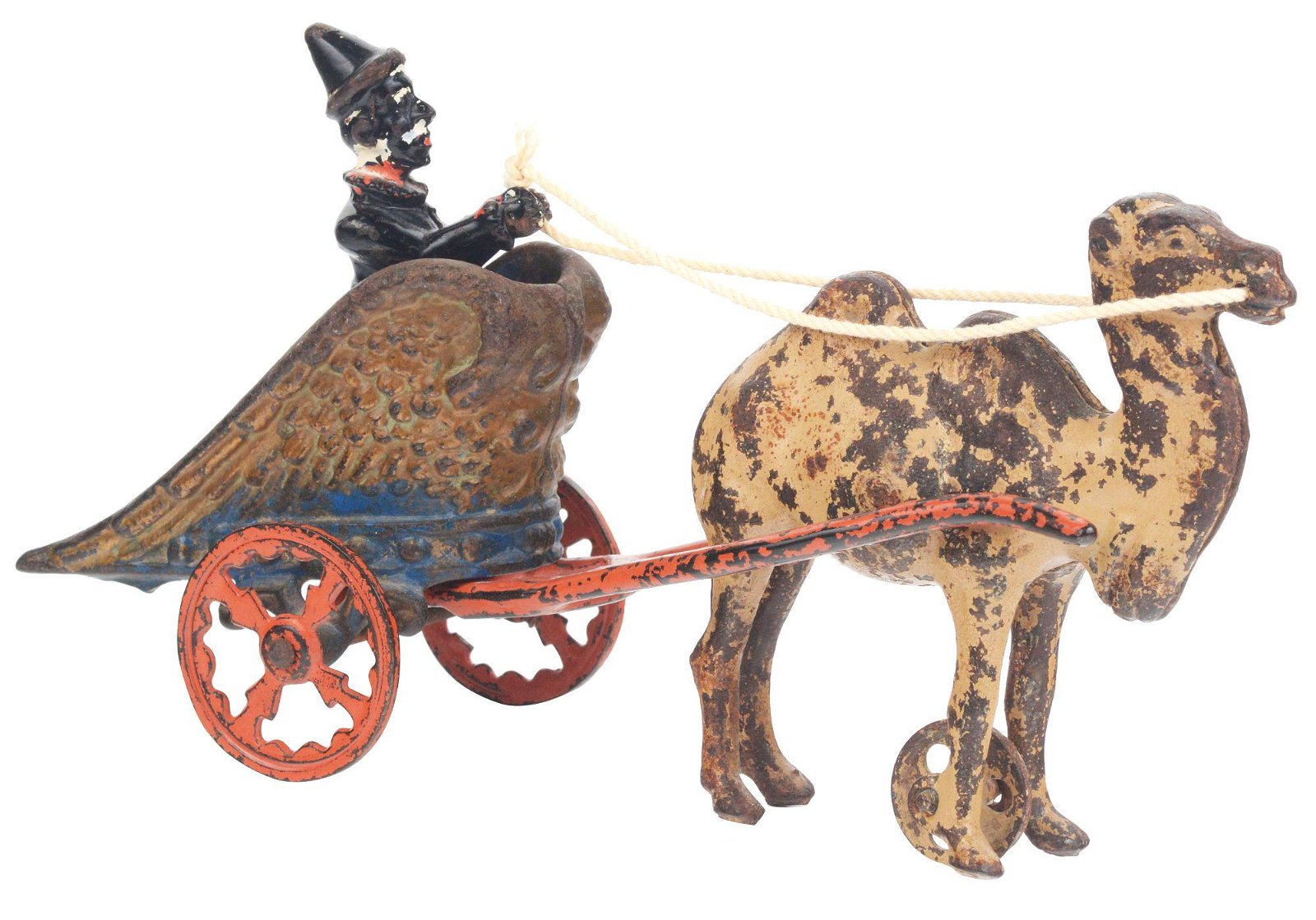 KENTON CAST IRON CAMEL DRAWN CIRCUS CHARIOT.