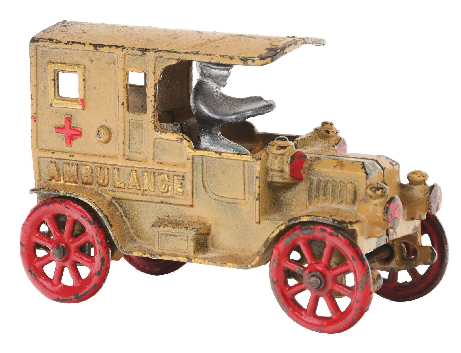 EARLY KENTON CAST IRON AMBULANCE.
