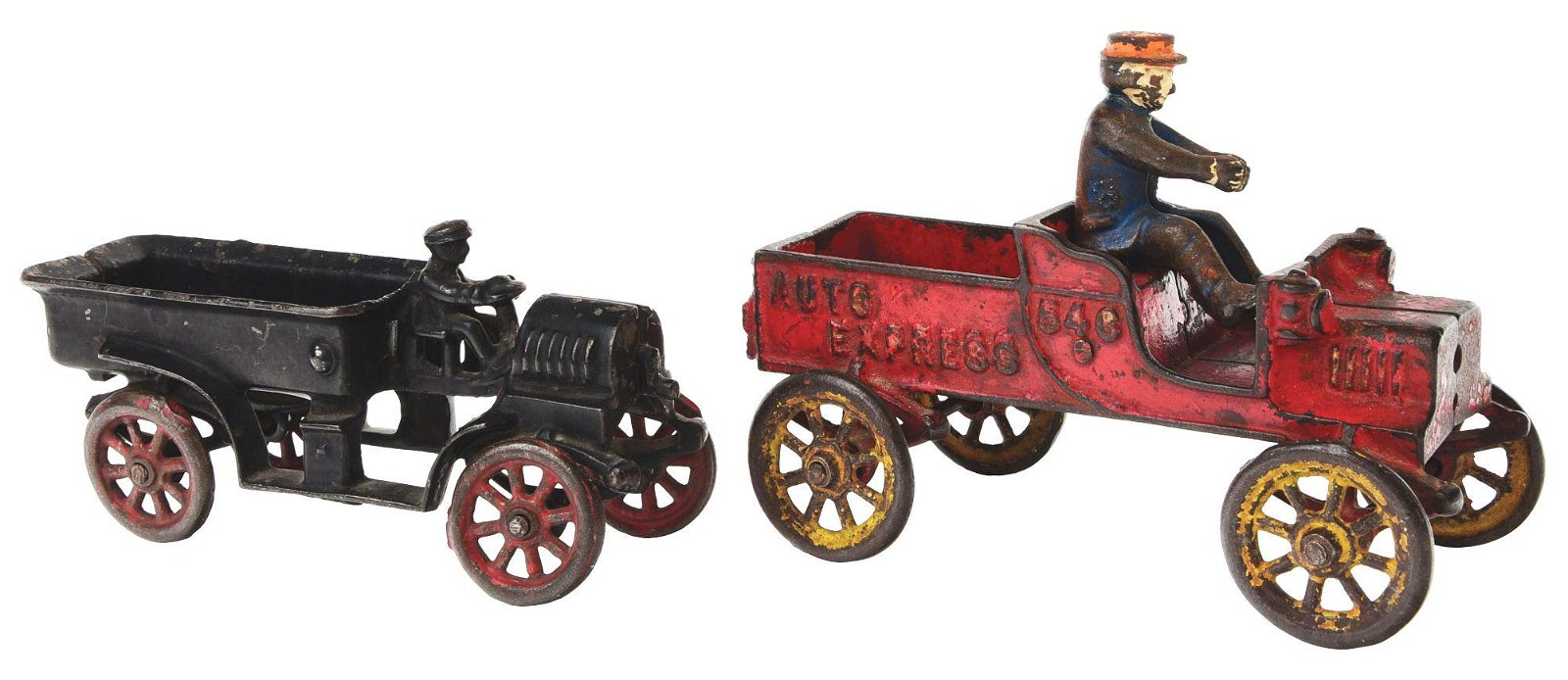 LOT OF 2: AMERICAN MADE CAST-IRON EXPRESS TOYS.