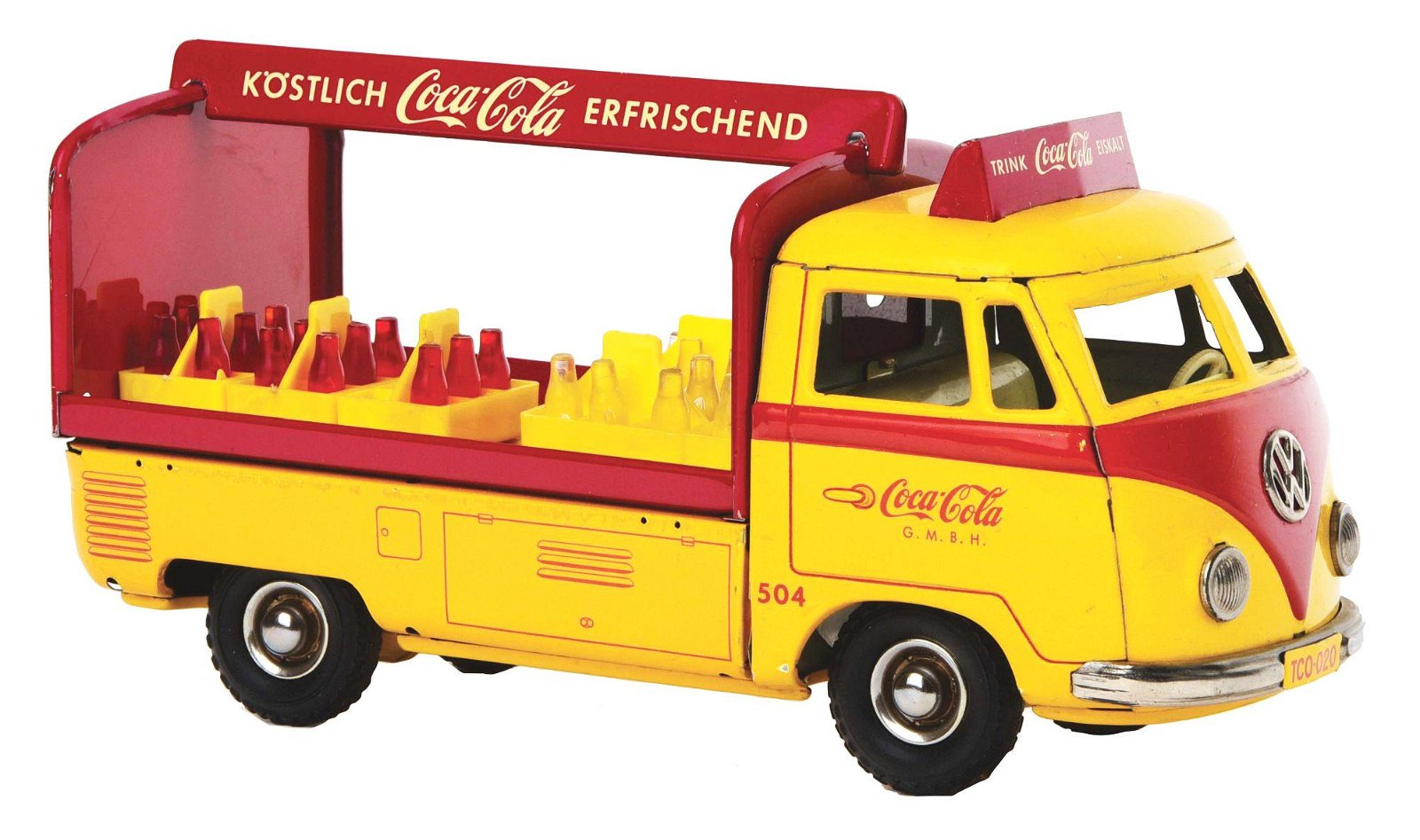GERMAN TIN-LITHO FRICTION COCA-COLA TRUCK.