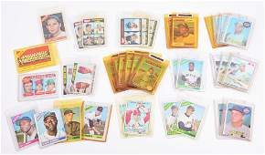 LOT OF 37: NICE TOPPS 1960'S AND 1970'S BASEBALL CARDS.