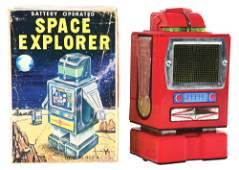 JAPANESE TINLITHO BATTERY OPERATED SPACE EXPLORER