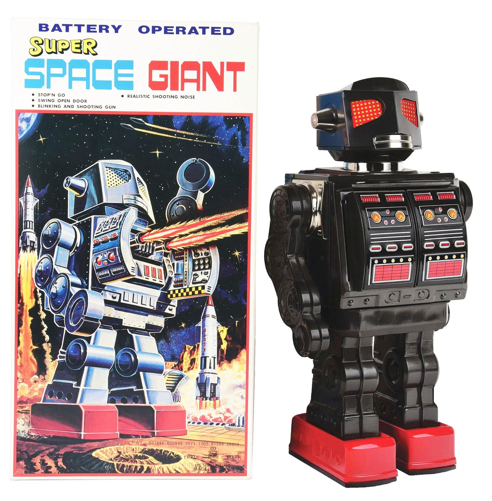 JAPANESE BATTERY-OPERATED TIN-LITHO SUPER SPACE GIANT