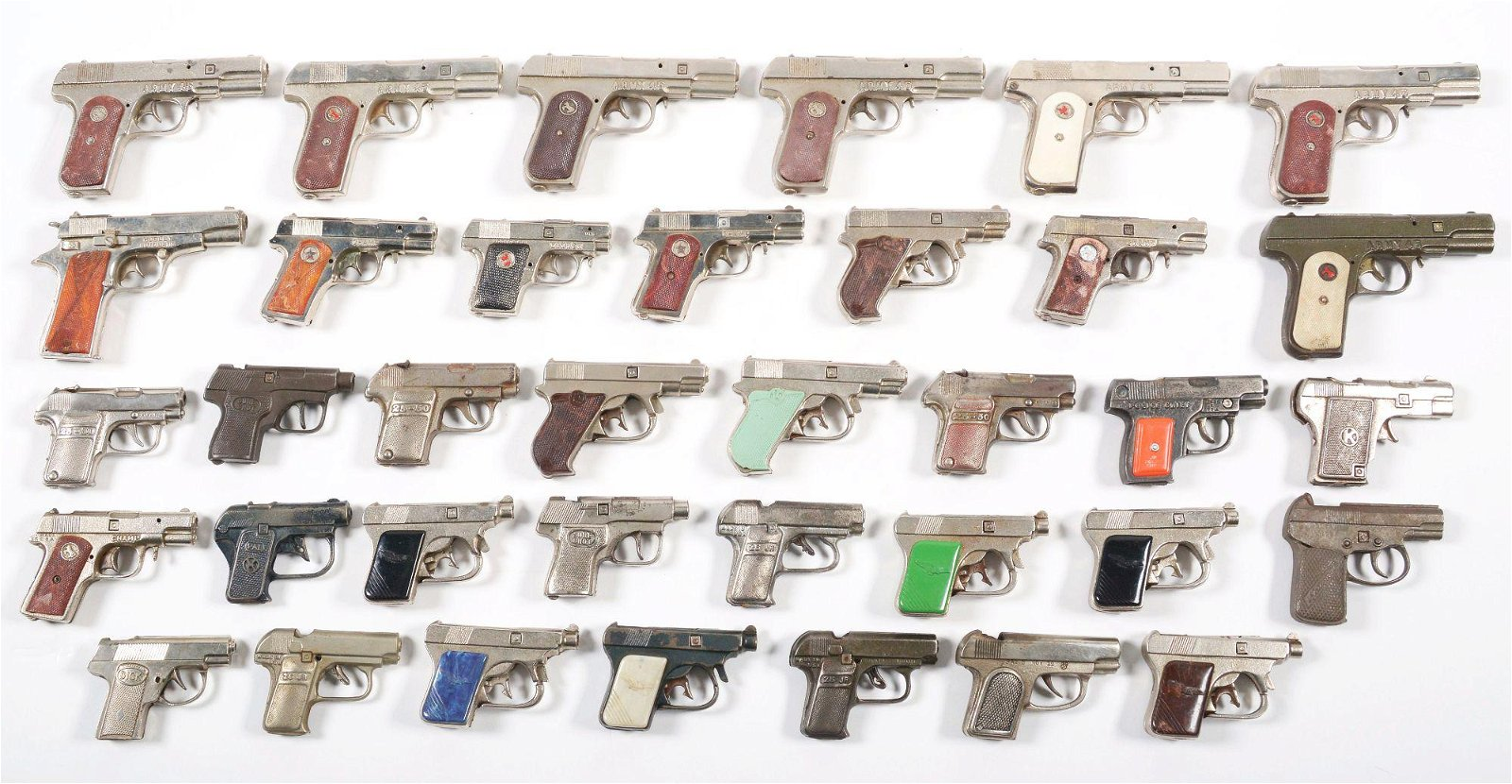 LOT OF 36 VARIOUS U.S. ARMY AND OTHER .45 CALIBER-TYPE