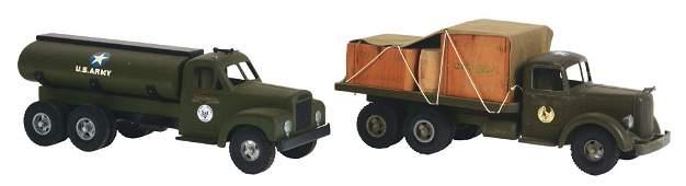 LOT OF 2 SMITH-MILLER U.S. ARMY TRUCKS.