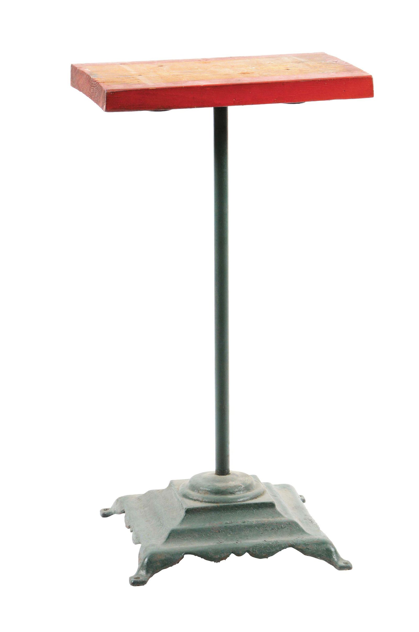 CAST-IRON COLUMBUS VENDING MACHINE STAND IN GREEN