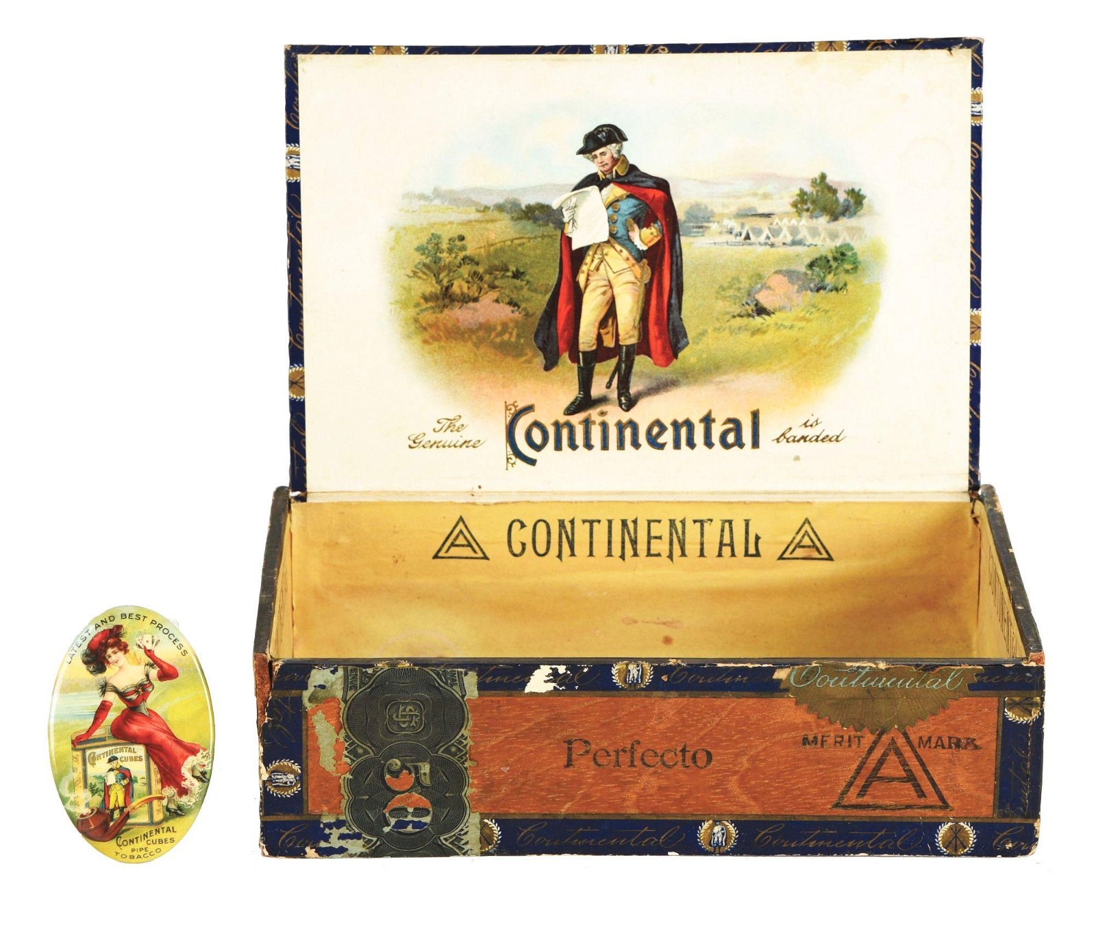 LOT OF 2: CONTINENTAL CUBES TOBACCO ITEMS.