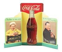 1934 COCA-COLA LARGE CUT-OUT WINDOW DISPLAY.