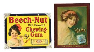 LOT OF 2 CHEWING GUM SIGNS