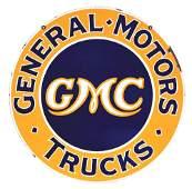 RARE GENERAL MOTORS GMC TRUCKS PORCELAIN DEALERSHIP