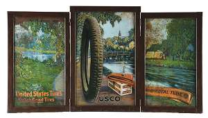 UNITED STATES TIRES THREE PIECE DOUBLED SIDED STORE