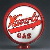 "WAVERLY GASOLINE COMPLETE 15"" GLOBE ON ORIGINAL METAL"