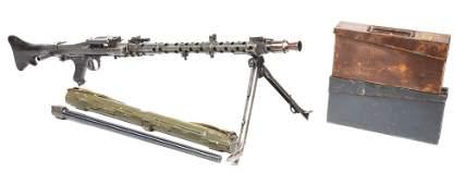 (N) FINE WORLD WAR II GERMAN MG-34 MACHINE GUN WITH