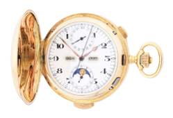 14K GOLD SWISS GRAND COMPLICATIONS MINUTE REPEATING