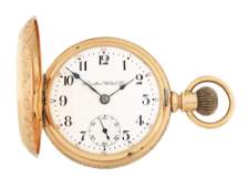 14K GOLD HAMILTON 941 RAILROAD HC POCKET WATCH CIRCA
