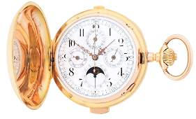 18K GOLD FABRIQUE GERMINAL MINUTE REPEATING TRIPLE DATE