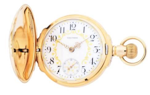 14K GOLD WALTHAM P.S.BARTLETT MULTICOLOR BOX HINGE H/C