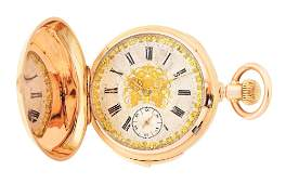 FINE 18K PINK GOLD MONTANDON SWISS MINUTE REPEATER HC