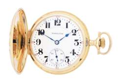 14K GOLD HAMILTON 993 MULTICOLOR HC POCKET WATCH