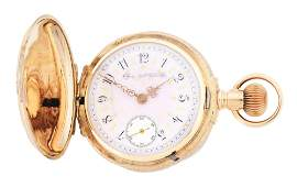 14K GOLD ELGIN MULTICOLOR BOX HINGE HC POCKET WATCH
