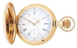 14K GOLD ELGIN 316 MULTICOLOR HEAVY HC POCKET WATCH
