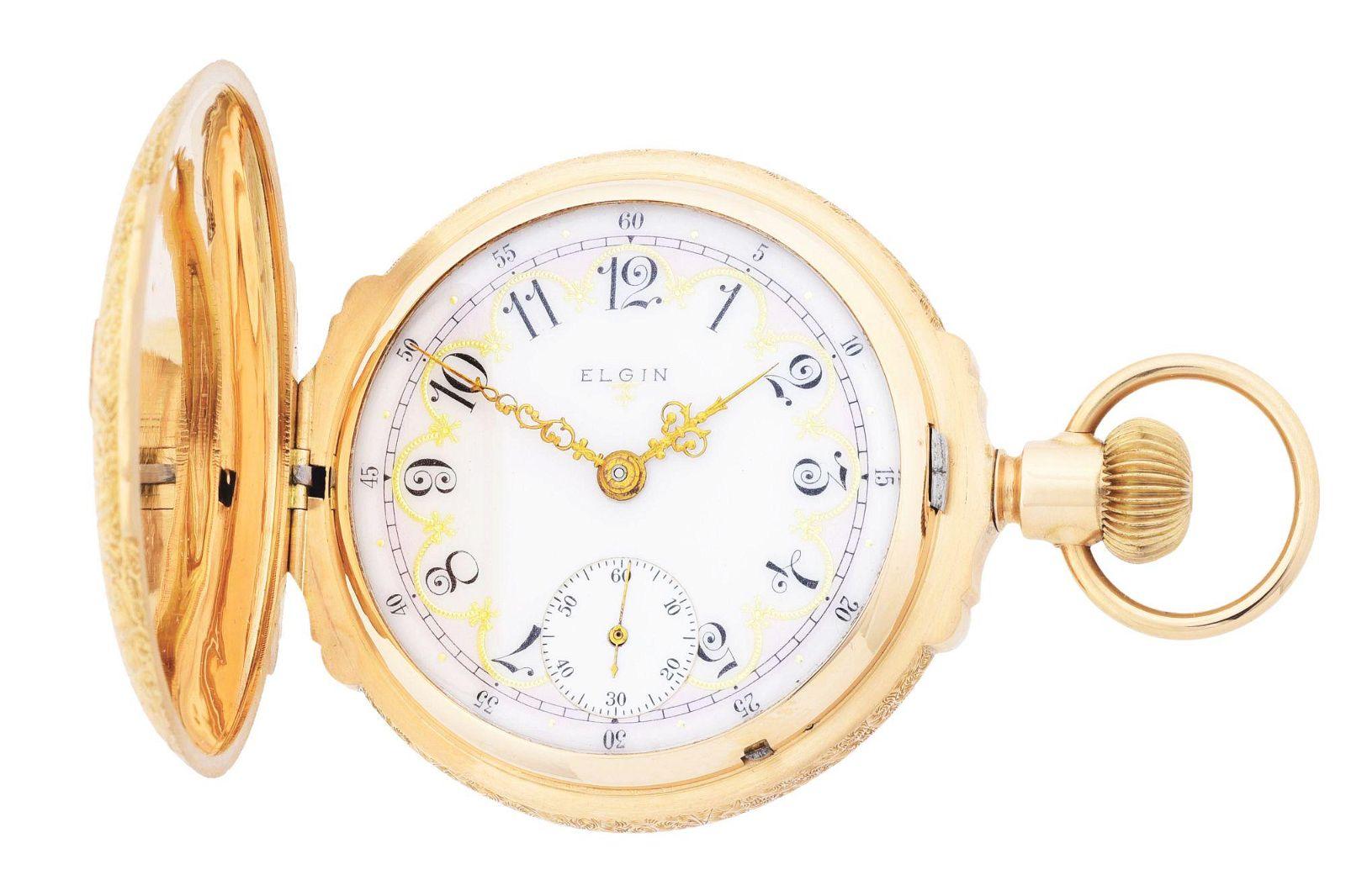 FANCY 14K GOLD ELGIN B.W. RAYMOND MULTICOLOR BOX HINGE