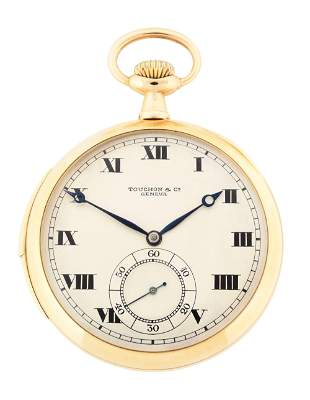 14K GOLD TOUCHON & CO WITTNAUER SWISS 23 JEWEL MINUTE