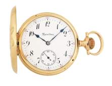 14K GOLD HAMILTON 975 MULTICOLOR HC POCKET WATCH