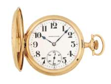 14K GOLD HAMILTON 991 MULTICOLOR HC POCKET WATCH