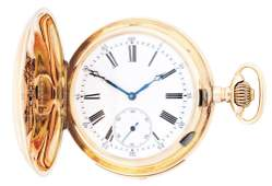 14K GOLD SWISS MINUTE REPEATING HC POCKET WATCH