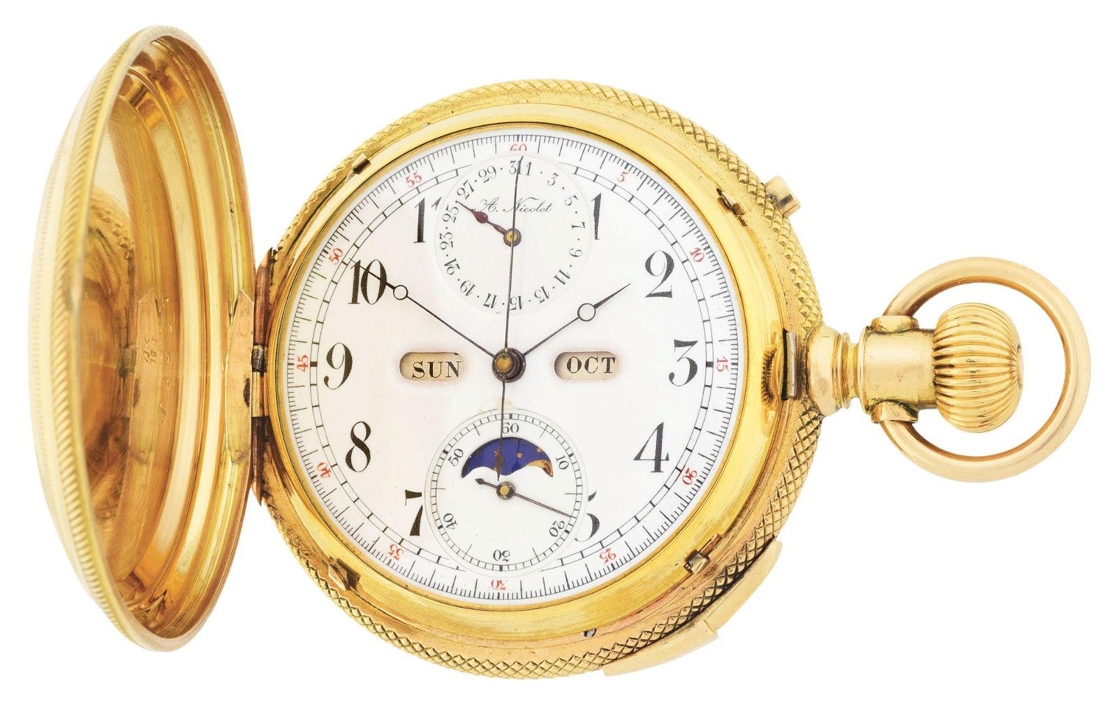 FINE 18K GOLD A. NICOLET SWISS GRAND COMPLICATIONS
