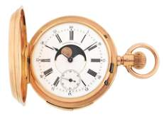 18K PINK GOLD FRENCH QUARTER REPEATER DOUBLE DIAL