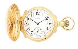 14K GOLD AMERICAN WALTHAM VANGUARD HEAVY BOX HINGE HC