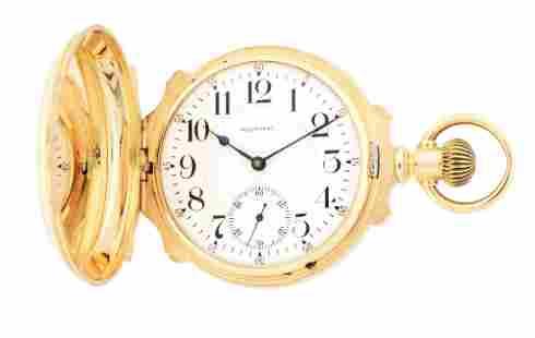 14K GOLD AMERICAN WALTHAM VANGUARD HEAVY BOX HINGE H/C