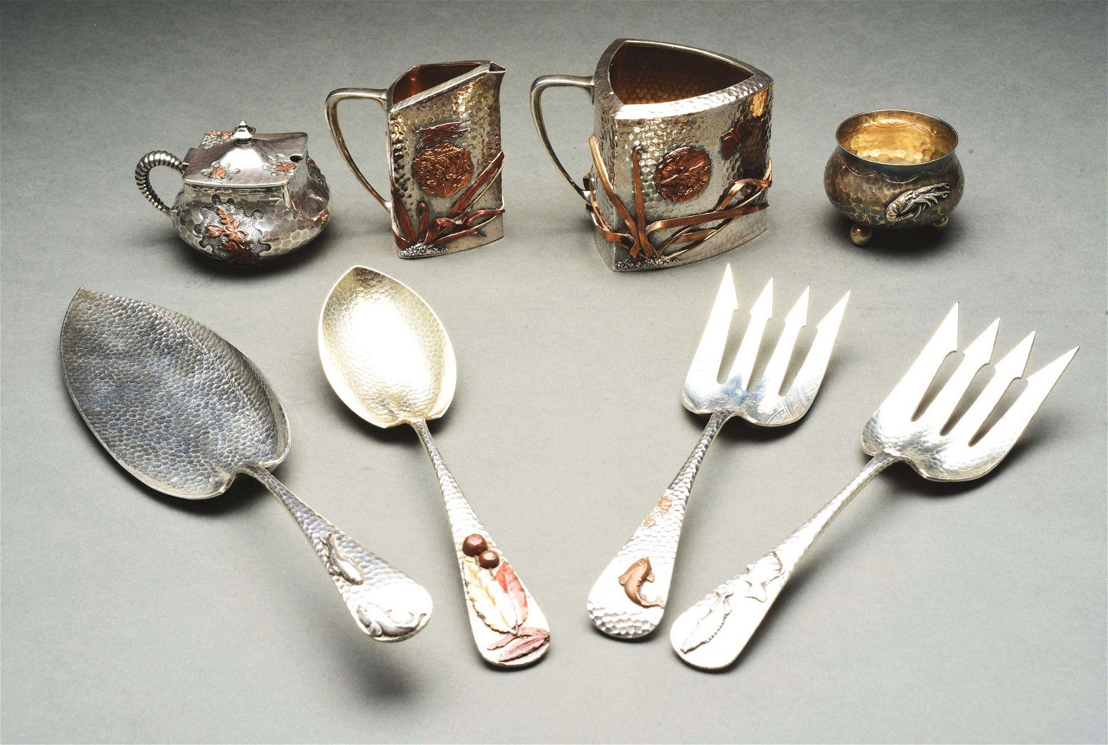 A GROUP OF AMERICAN STERLING AND MIXED METAL ARTICLES.
