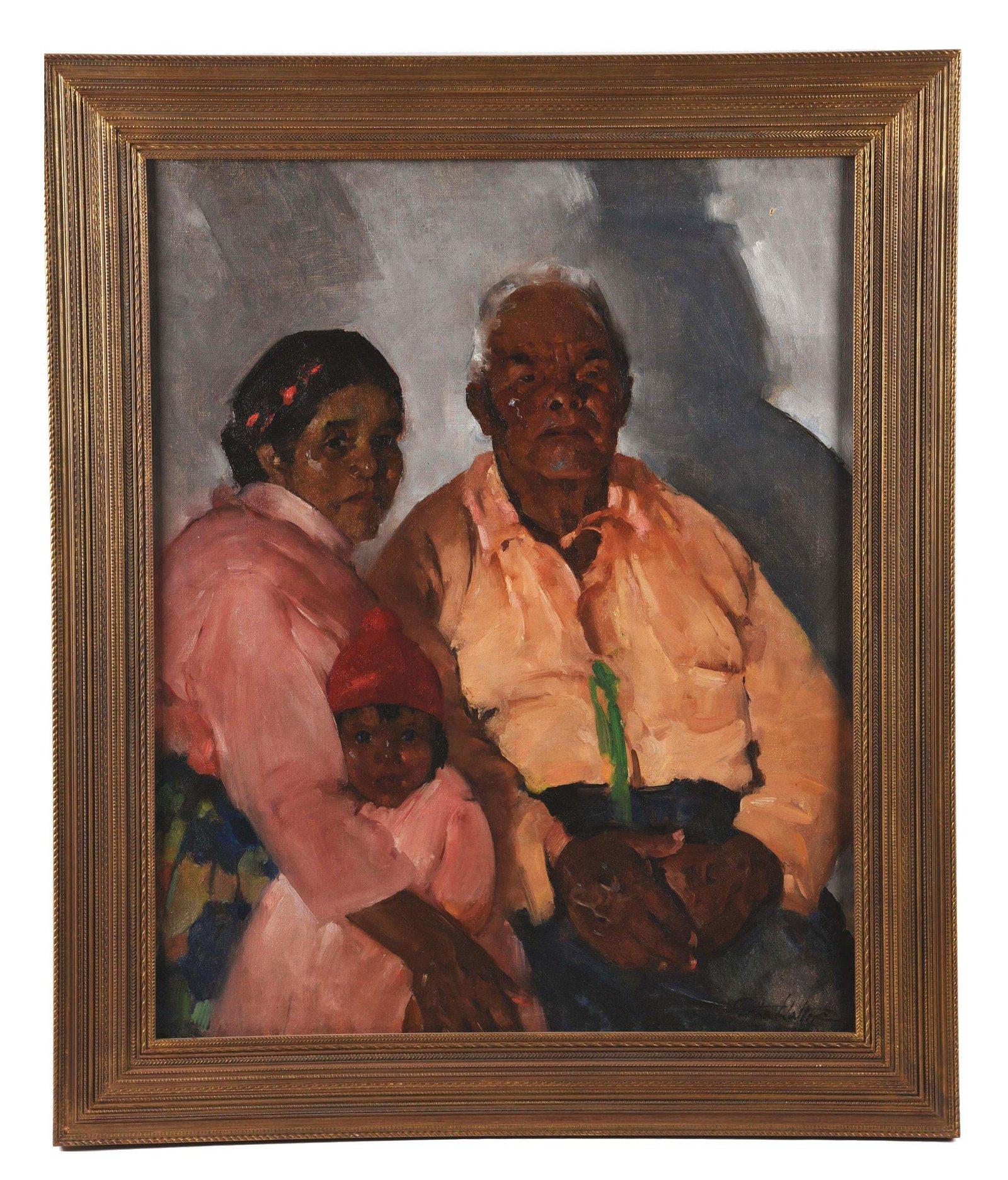 MARTHA WALTER (AMERICAN, 1875 - 1976) FAMILY PORTRAIT.
