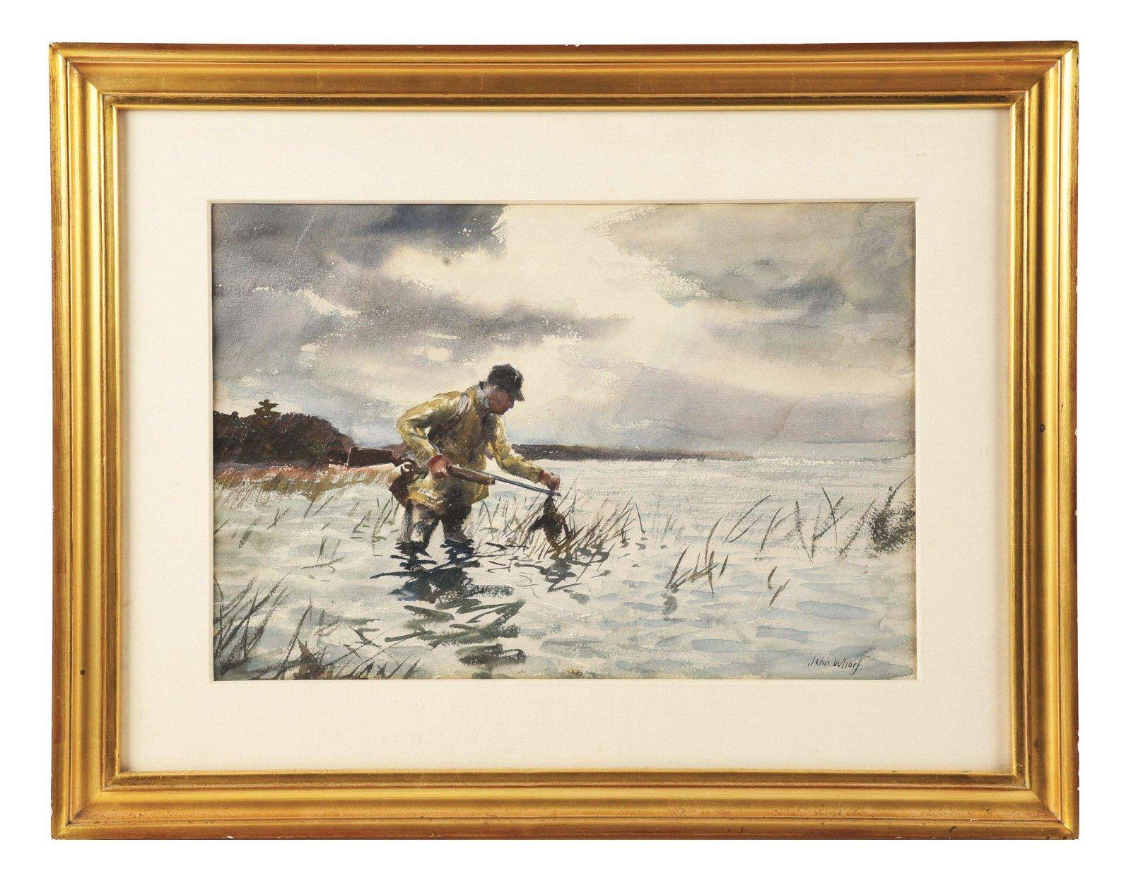 JOHN WHORF (AMERICAN, 1903 - 1959) DUCK HUNTING.