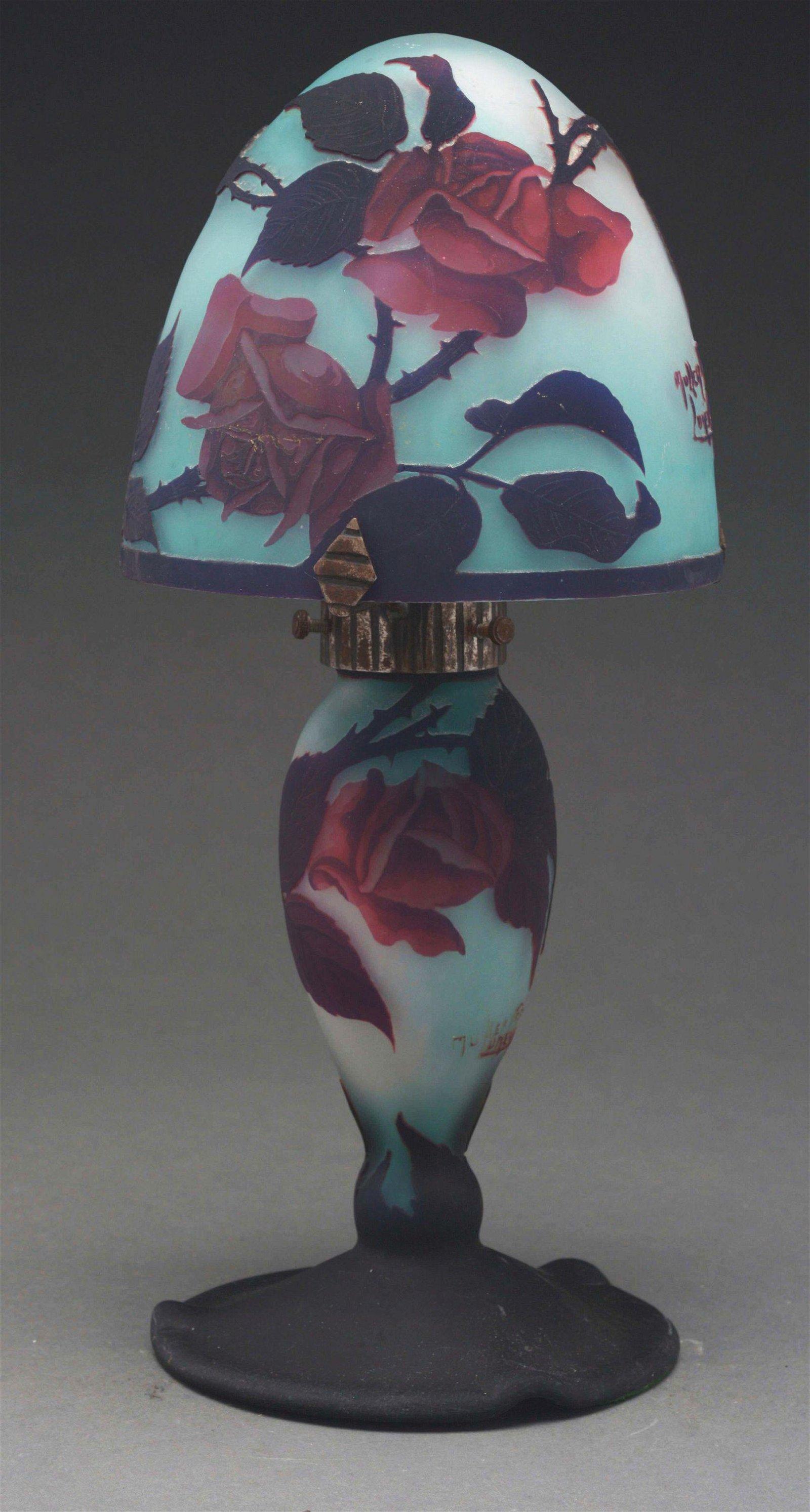 MULLER CAMEO ROSE LAMP.