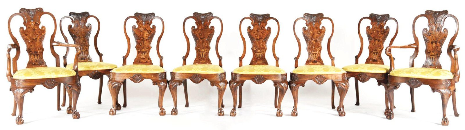 GEORGIAN STYLE SET OF EIGHT DINING CHAIRS