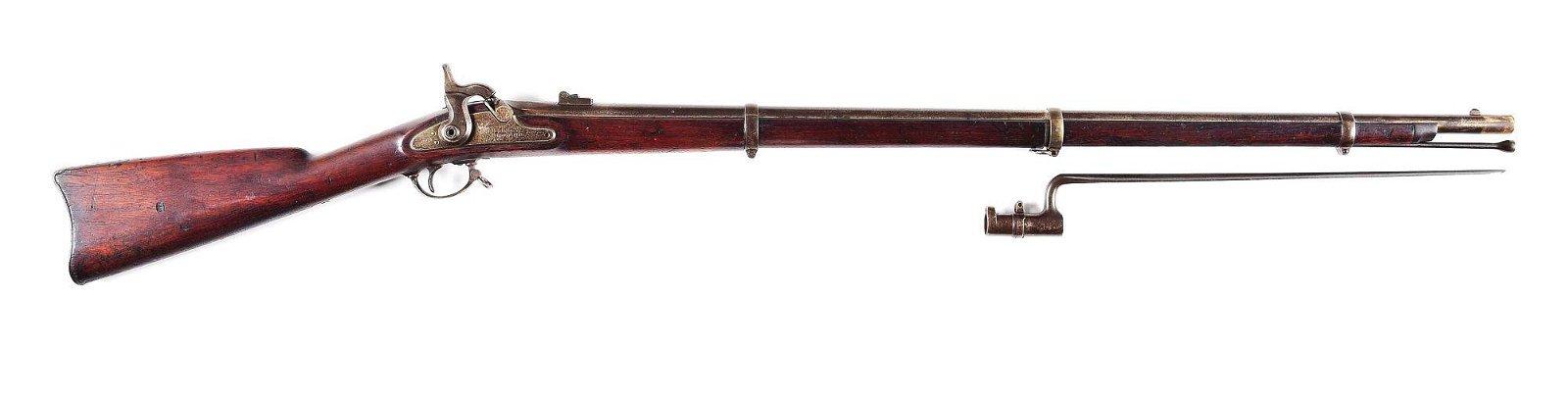 (A) US SPRINGFIELD 1863 PERCUSSION RIFLE.