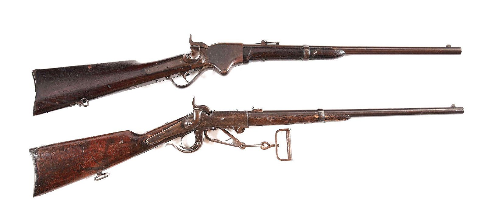 (A) LOT OF 2: SPENCER 1860 LEVER ACTION CARBINE AND