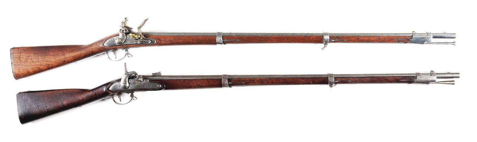 (A) COLLECTORS LOT OF 2: MODEL 1816 FLINTLOCK AND 1861